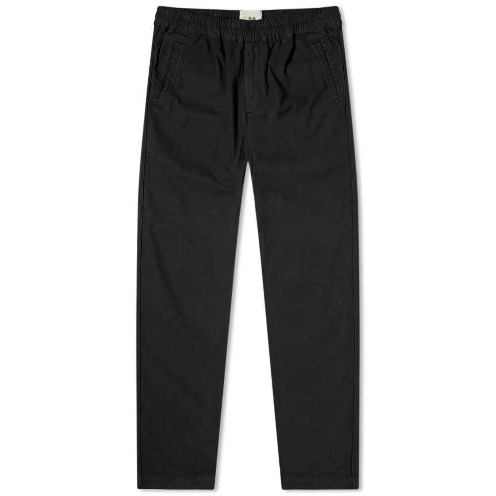 フォーク Folk メンズ ボトムス・パンツ 【Washed Cotton Linen Trouser】Soft Black