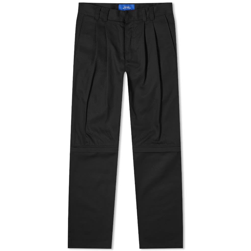 ラスベート PACCBET メンズ チノパン ボトムス・パンツ【Zip Off Chino】Black