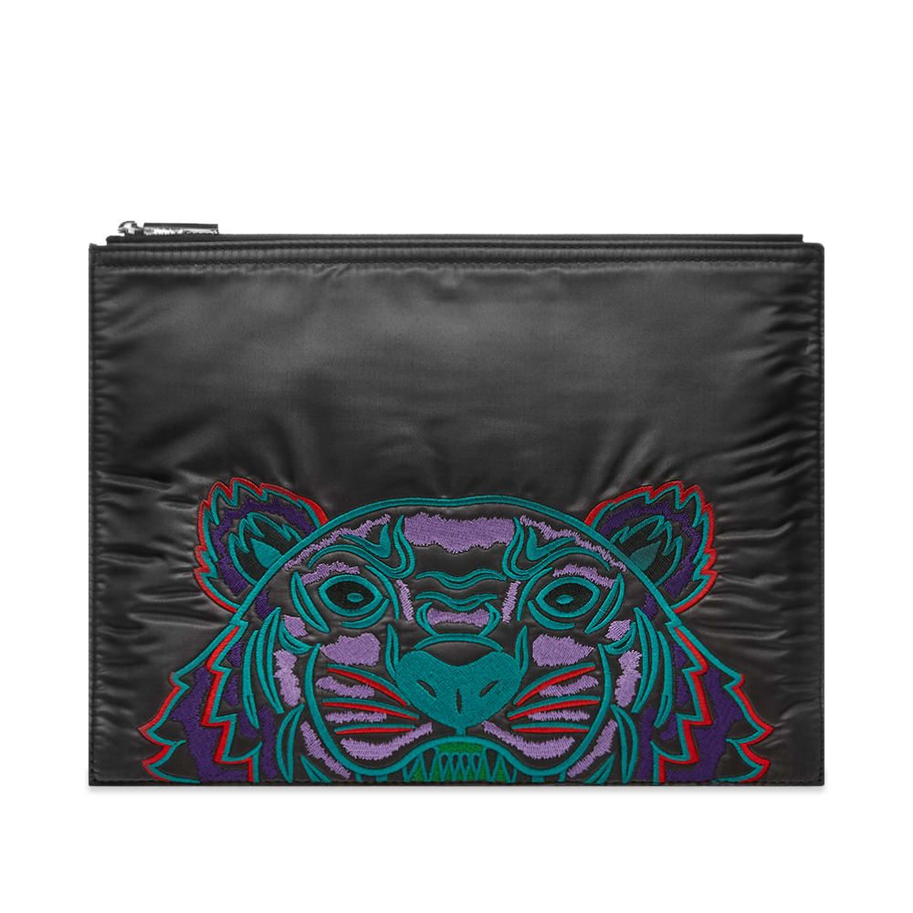 ケンゾー Kenzo メンズ ポーチ 【Nylon Tiger Embroidered Pouch】Grey