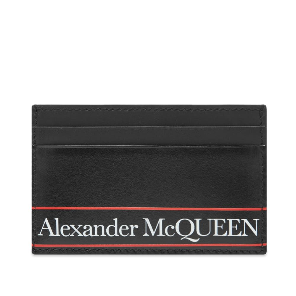 アレキサンダー マックイーン Alexander McQueen メンズ カードケース・名刺入れ カードホルダー【Tape Logo Card Holder】Black/Red