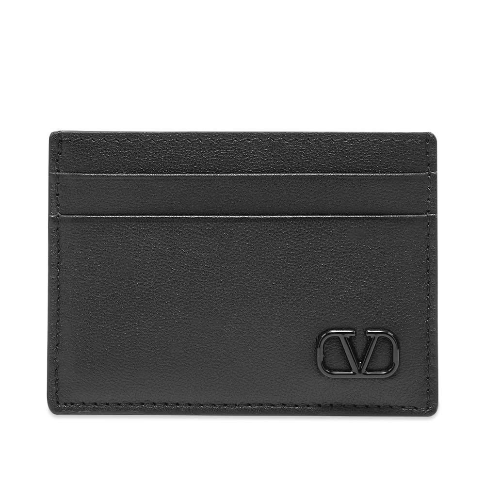 ヴァレンティノ Valentino メンズ カードケース・名刺入れ カードホルダー【Leather Go Logo Card Holder】Black