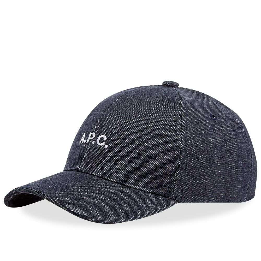 アーペーセー A.P.C. メンズ キャップ 帽子【Charlie Logo Cap】Indigo