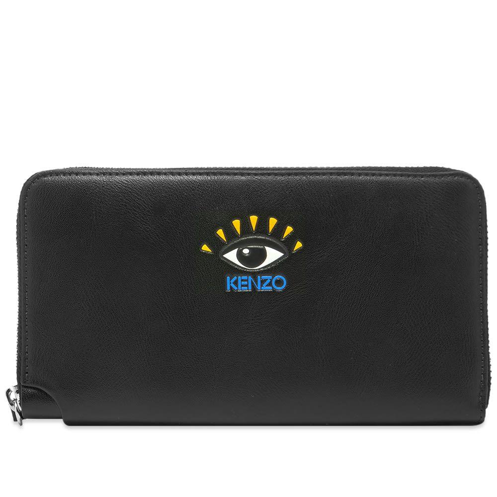 ケンゾー Kenzo メンズ 財布 【Eye Leather Long Zip Wallet】Black