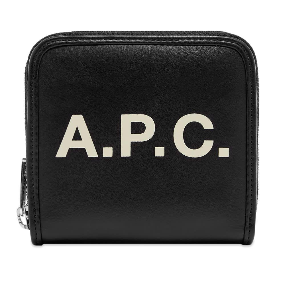 アーペーセー A.P.C. メンズ 財布 【Morgan Logo Zip Wallet】Black