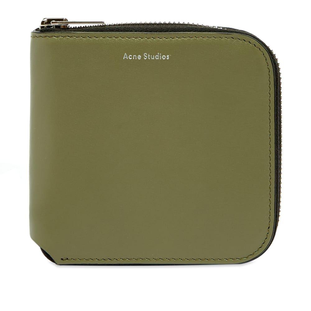 アクネ ストゥディオズ Acne Studios メンズ 財布 【Csarite S Zip Wallet】Dark Green