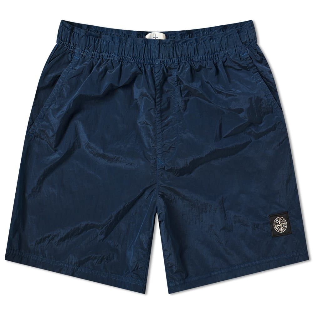 ストーンアイランド Stone Island メンズ 海パン 水着・ビーチウェア【Garment Dyed Nylon Metal Patch Logo Swim Short】Blue Marine