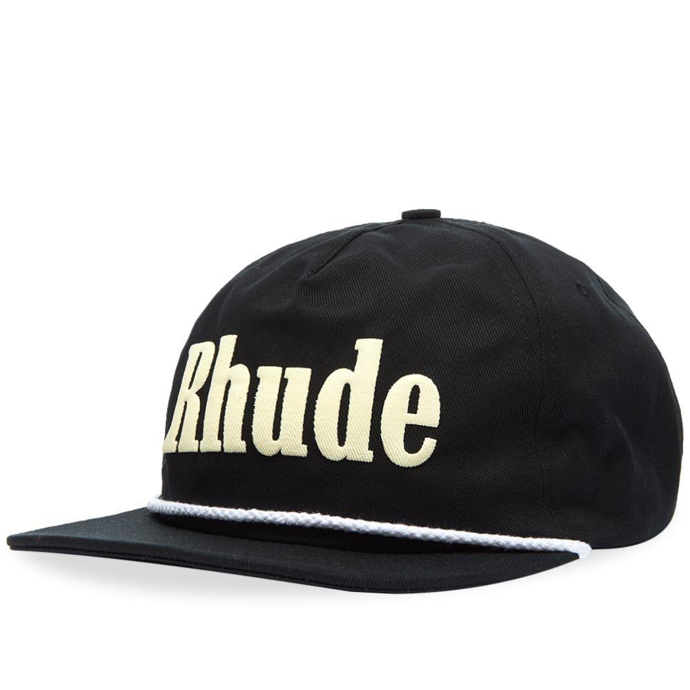 ルード Rhude メンズ キャップ 帽子【Rhonda 2 Logo Hat】Black/White