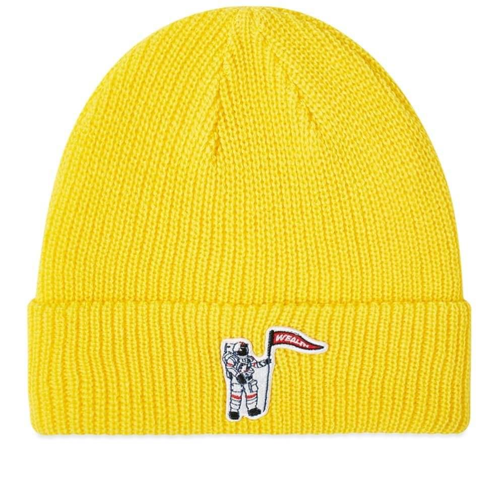 ビリオネアボーイズクラブ Billionaire Boys Club メンズ ニット ビーニー 帽子【Astronaut Patch Beanie】Yellow
