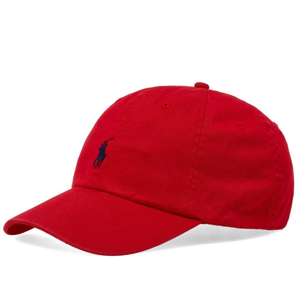 ラルフ ローレン Polo Ralph Lauren メンズ キャップ ベースボールキャップ 帽子【Classic Baseball Cap】Red/Flag Blue