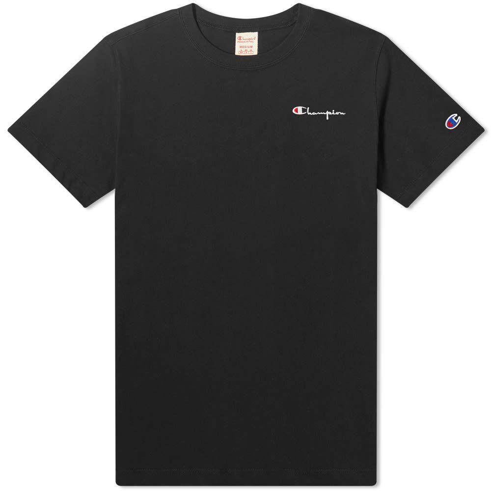 チャンピオン Champion Reverse Weave レディース Tシャツ ロゴTシャツ トップス【Small Script Logo Tee】Black