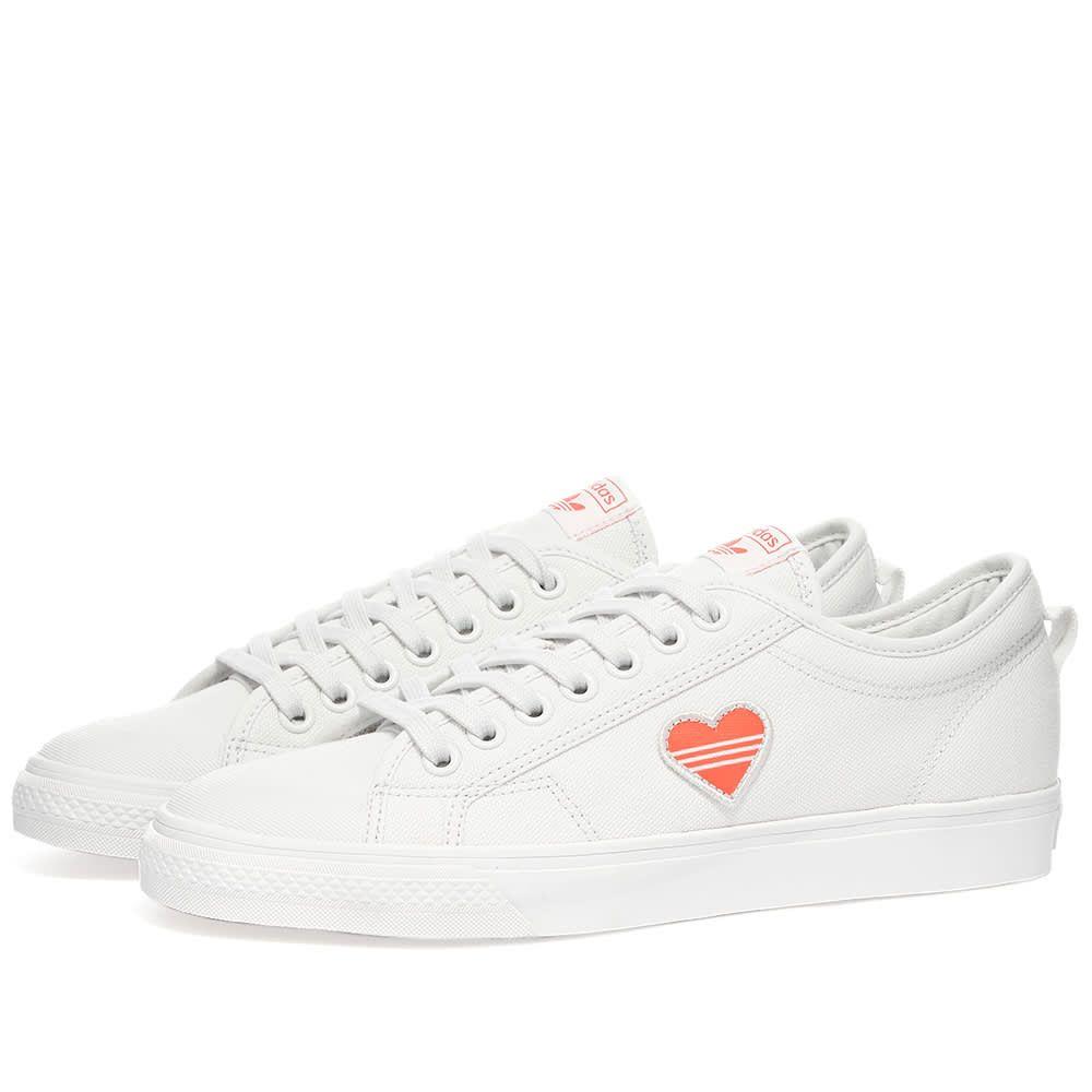 アディダス Adidas レディース スニーカー シューズ・靴【Nizza Trefoil W】White/Red/Black