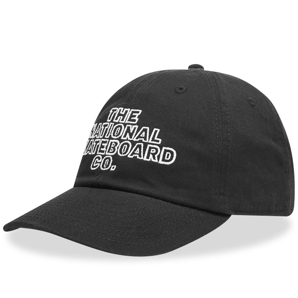 ザ ナショナル スケートボード The National Skateboard Co. メンズ キャップ 帽子【Classic Text 6 Panel Cap】Black