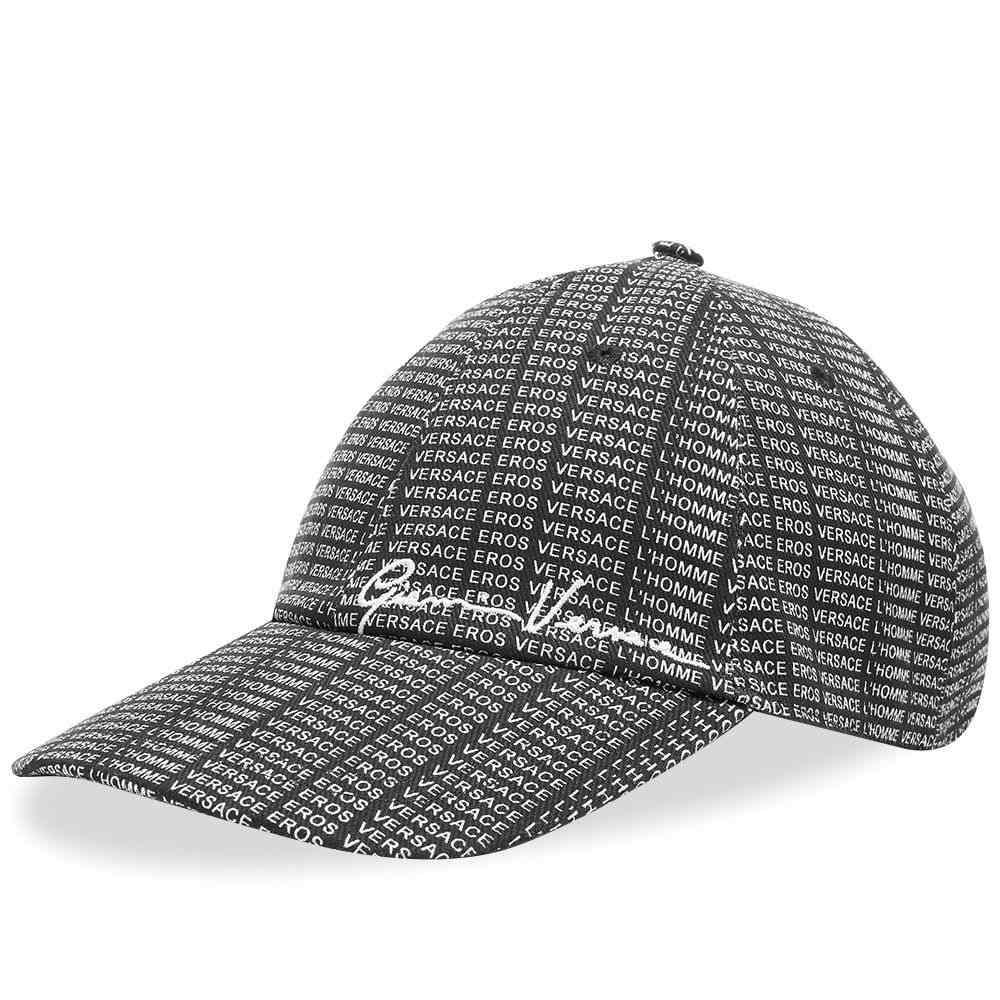 ヴェルサーチ Versace メンズ キャップ 帽子【All Over Print Logo Cap】Black/Multi