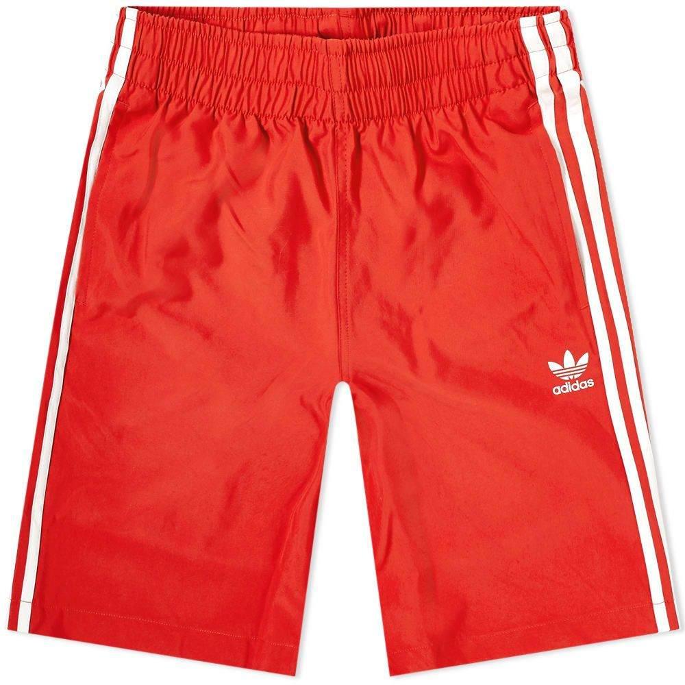 アディダス Adidas メンズ 海パン 水着・ビーチウェア【3 Stripe Swim Short】Red