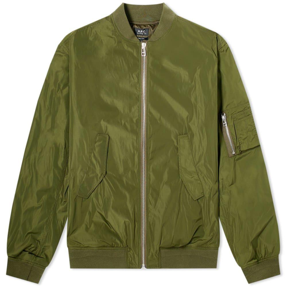 アーペーセー A.P.C. メンズ ブルゾン ミリタリージャケット アウター【Birmingham Nylon Bomber Jacket】Khaki