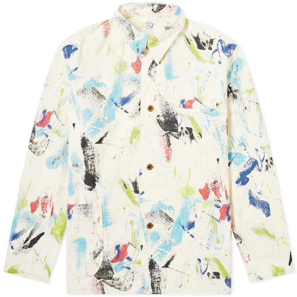 オアスロウ orSlow メンズ ジャケット アウター【'40s Coverall Jacket】Print