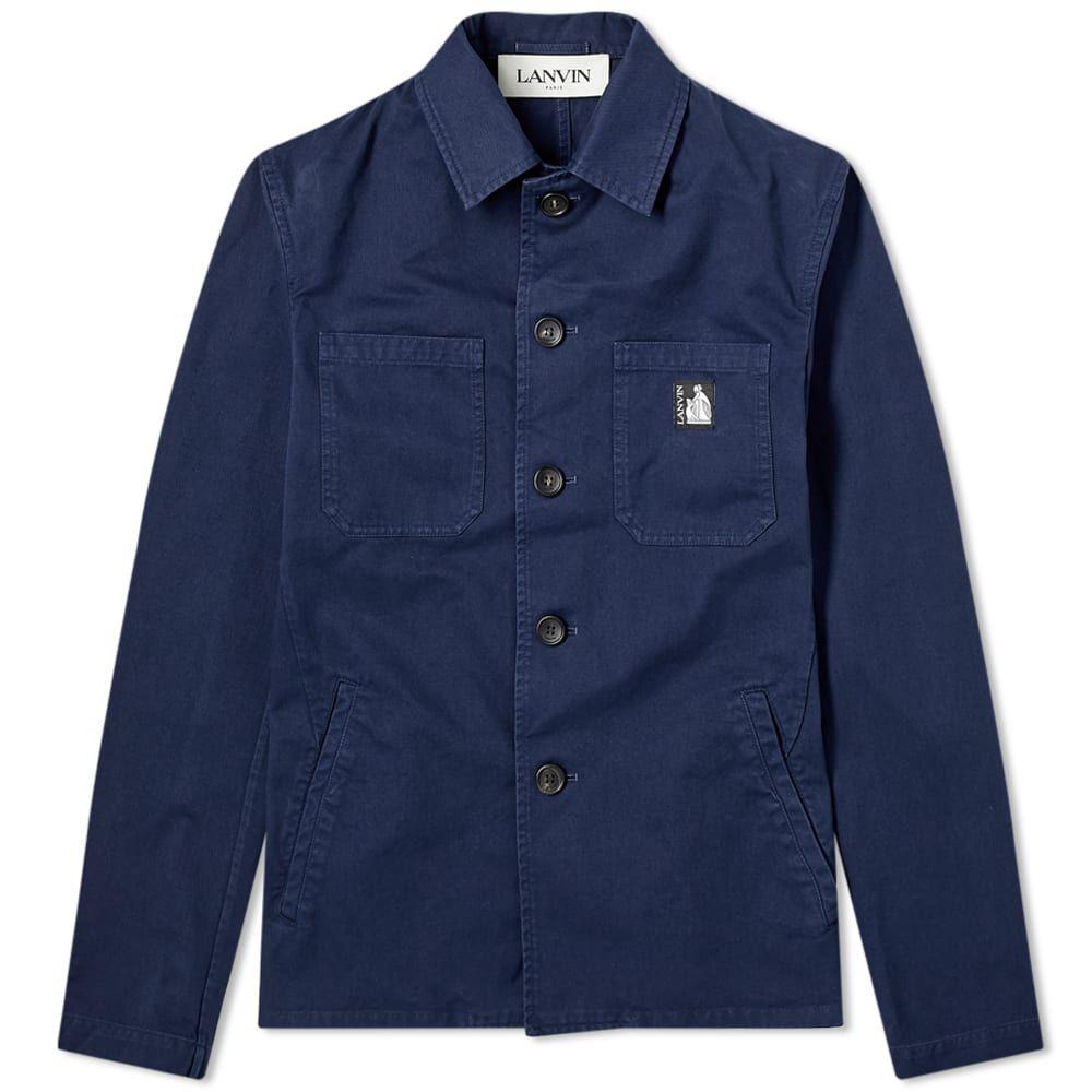 ランバン Lanvin メンズ ジャケット アウター【Light Workwear Jacket】Navy Blue