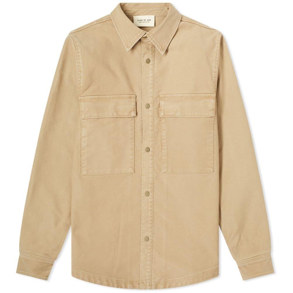 フィアオブゴッド Fear Of God メンズ ジャケット シャツジャケット アウター【Fear of God Vintage Cord Shirt Jacket】Khaki