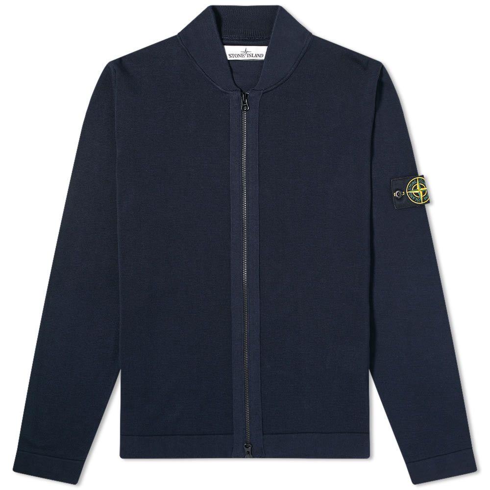 ストーンアイランド Stone Island メンズ ブルゾン ミリタリージャケット アウター【Micro Stitch Knit Bomber Jacket】Navy Blue