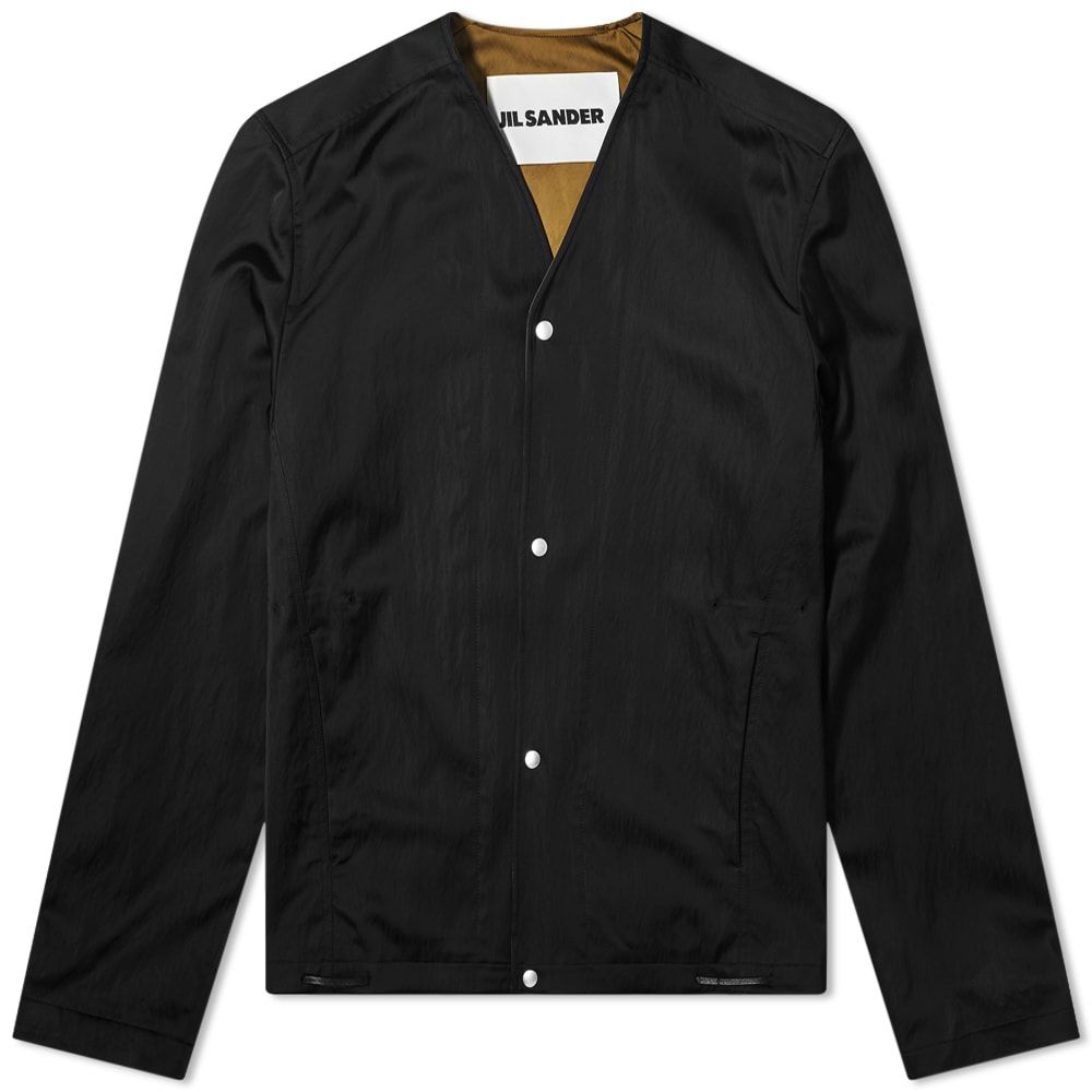 ジル サンダー Jil Sander メンズ ジャケット コーチジャケット アウター【Nylon Satin Kimono Coach Jacket】Black