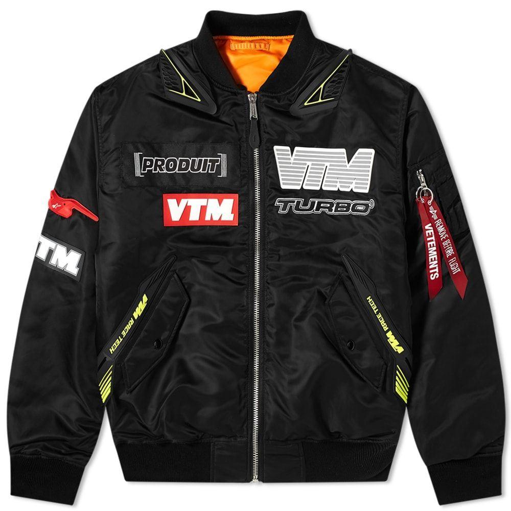 ヴェトモン VETEMENTS メンズ ブルゾン ミリタリージャケット モーターサイクルジャケット アウター【Motorcycle Bomber Jacket】Black