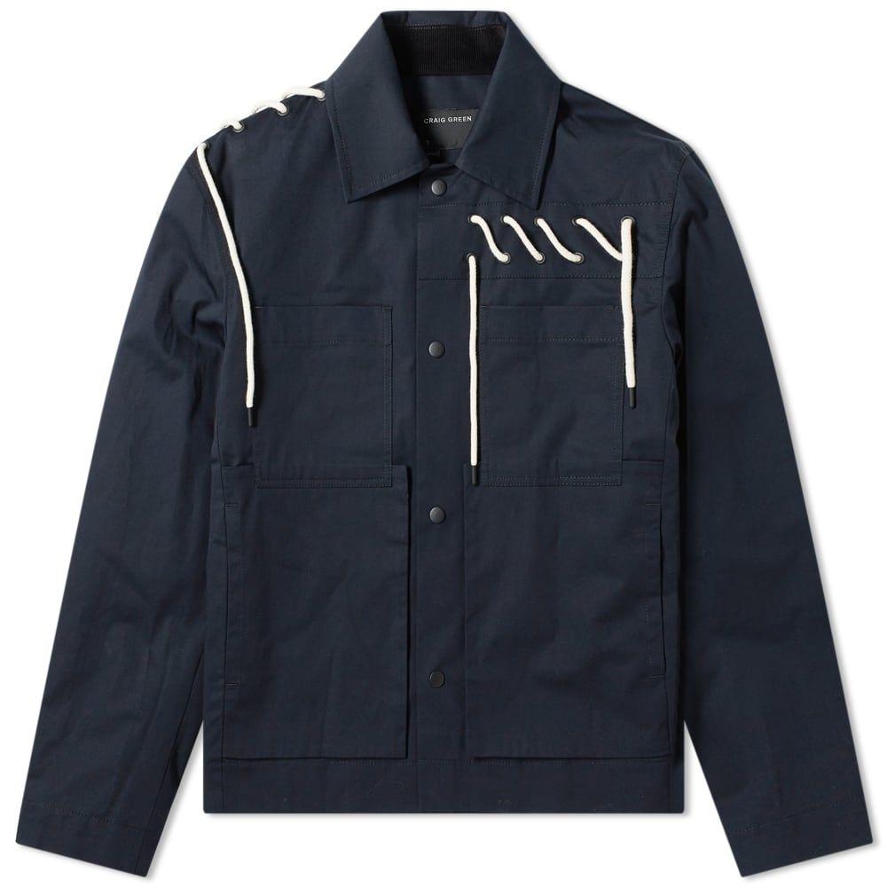クレイググリーン Craig Green メンズ ジャケット ワークジャケット アウター【Laced Worker Jacket】Navy/Cream