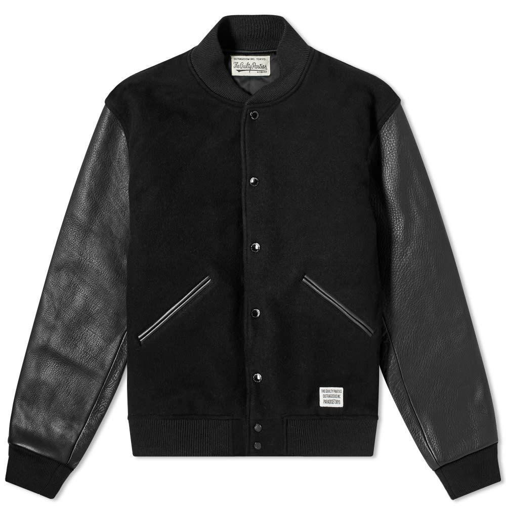 ワコマリア Wacko Maria メンズ ブルゾン アウター【Guilty Parties Varsity Jacket】Black