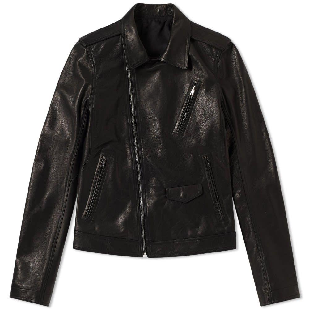 リック オウエンス Rick Owens メンズ レザージャケット ライダース アウター【Stooges Leather Biker Jacket】Black