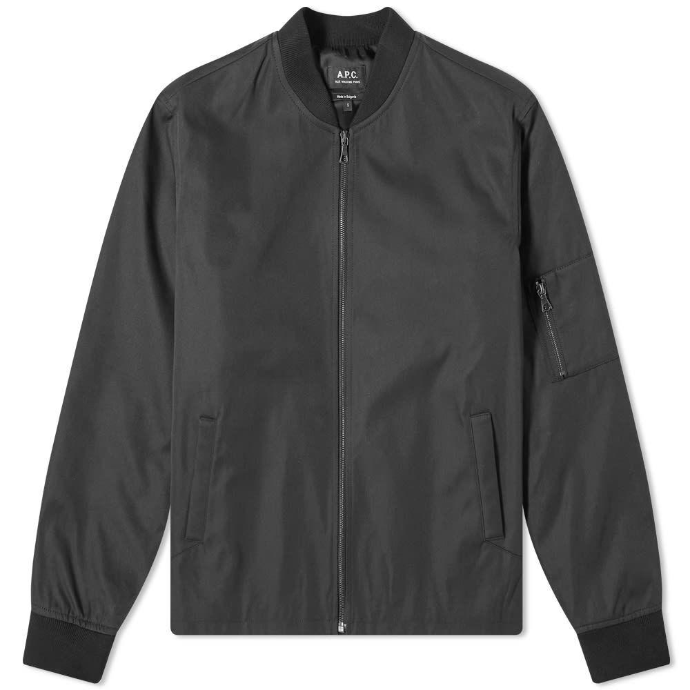 アーペーセー A.P.C. メンズ ブルゾン アウター【Greg Twill MA-1 Jacket】Black