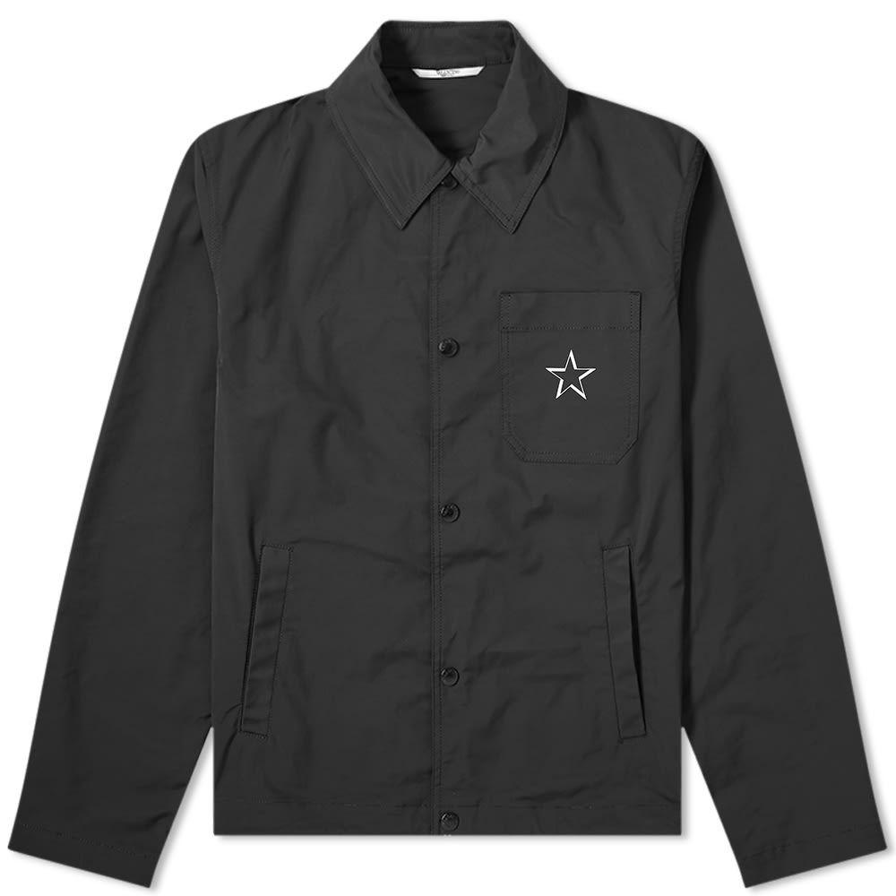 ヴァレンティノ Valentino メンズ ジャケット コーチジャケット アウター【VLTN Star Backprint Coach Jacket】Black