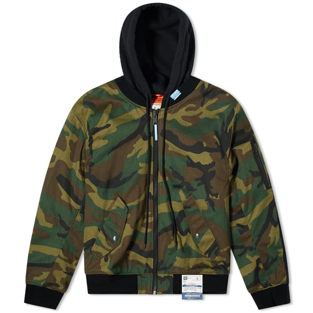 ミハラ ヤスヒロ Maison MIHARA YASUHIRO メンズ ブルゾン アウター【Flat Layered Camo MA-1 Jacket】Khaki