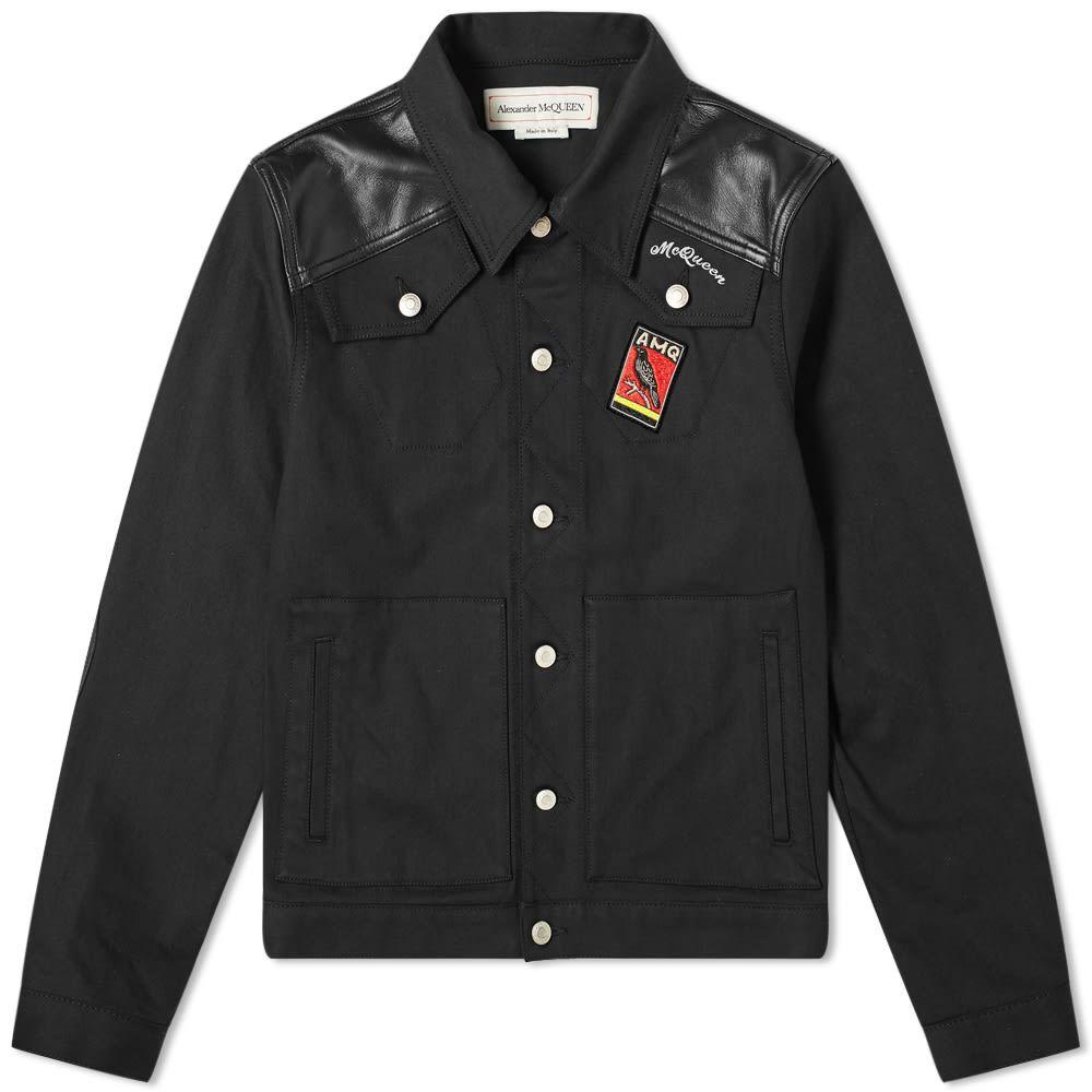アレキサンダー マックイーン Alexander McQueen メンズ ジャケット Gジャン アウター【Logo Patch Denim Jacket】Black