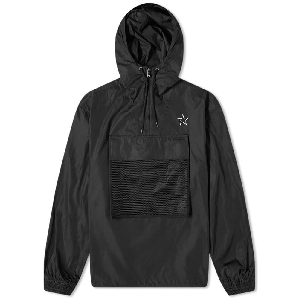 ヴァレンティノ Valentino メンズ ジャケット フード アウター【VLTN Star Popover Hooded Jacket】Black