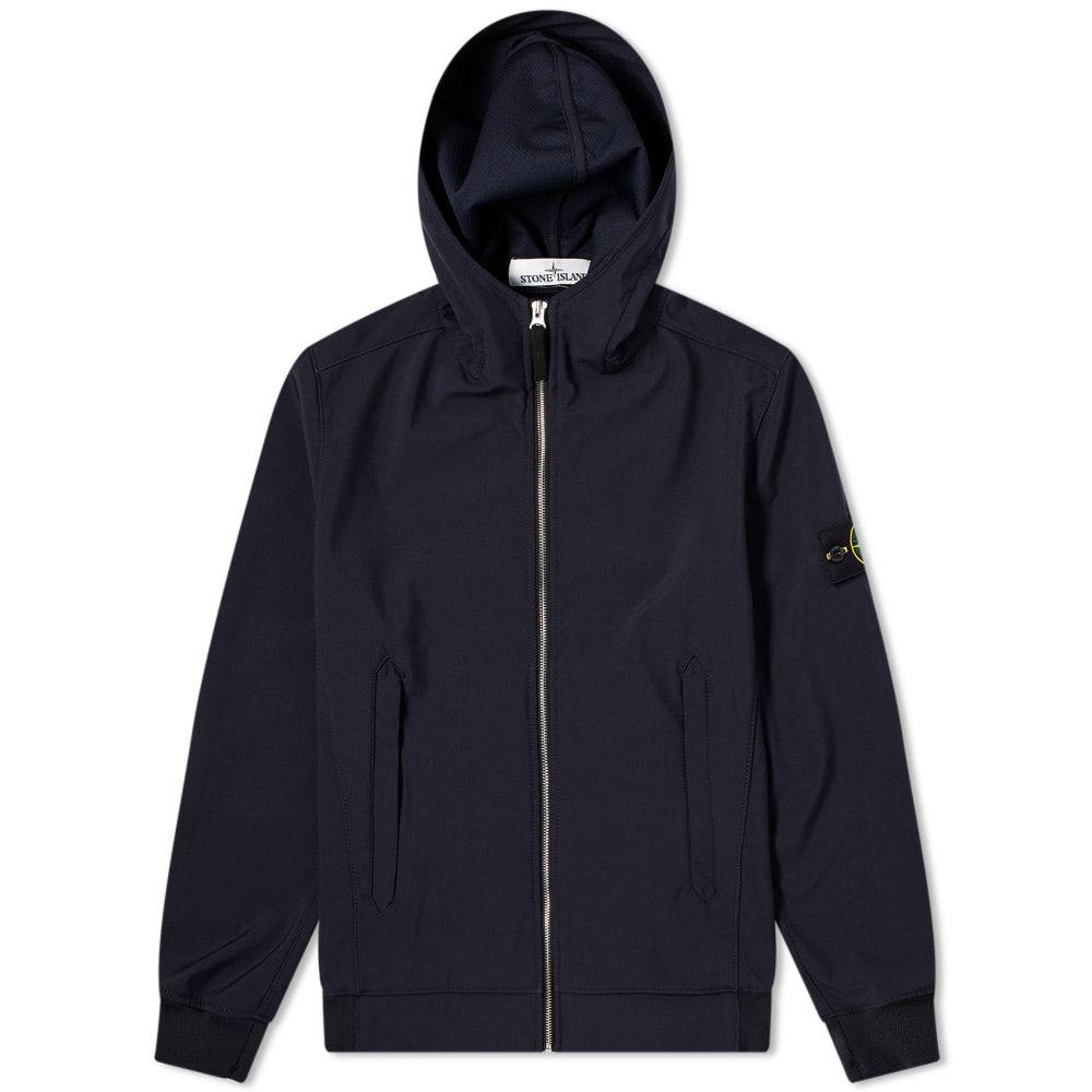 ストーンアイランド Stone Island メンズ ジャケット フード アウター【Lightweight Soft Shell-R Hooded Jacket】Navy Blue
