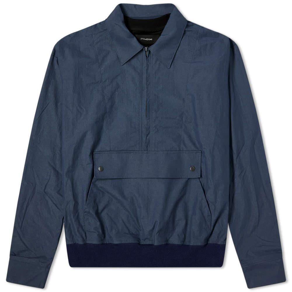 ジーアール ユニフォーマ GR Uniforma メンズ ジャケット オーバーシャツ アウター【GR-Uniforma Nylon Hybrid Overshirt】Navy