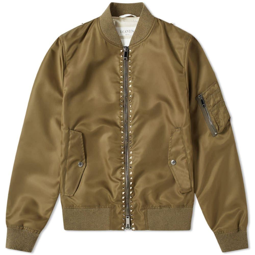 ヴァレンティノ Valentino メンズ ブルゾン ミリタリージャケット アウター【Rockstud Untitled Bomber Jacket】Army