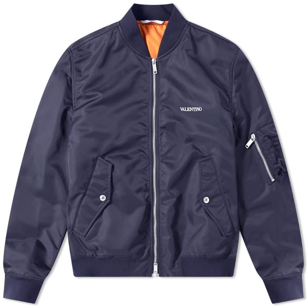 ヴァレンティノ Valentino メンズ ブルゾン アウター【MA-1 Jacket】Navy