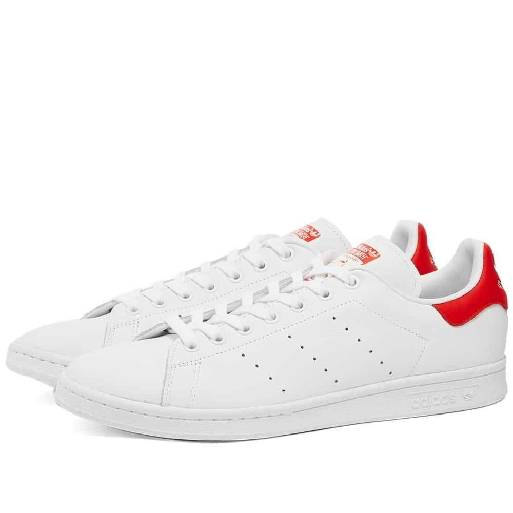 アディダス Adidas メンズ スニーカー シューズ・靴【Stan Smith】White/Red