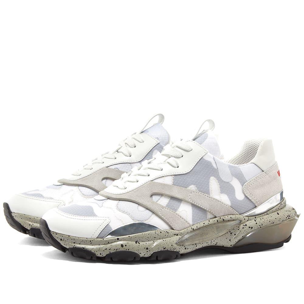 ヴァレンティノ Valentino メンズ スニーカー シューズ・靴【Bounce Tech Camo Runner】White/Grey