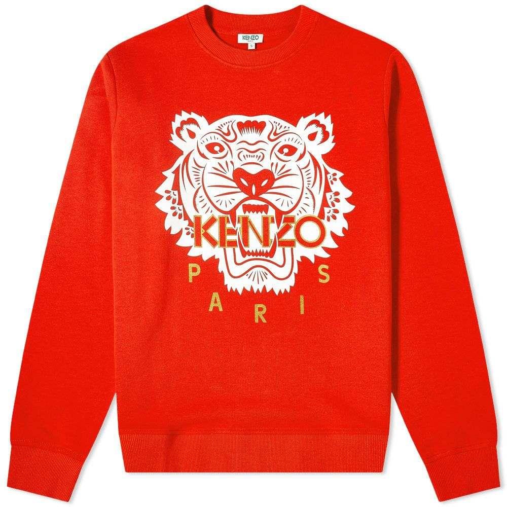 ケンゾー Kenzo メンズ スウェット・トレーナー トップス【CNY Tiger Crew】Medium Red