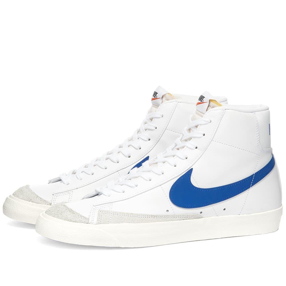 ナイキ Nike メンズ スニーカー シューズ・靴【Blazer Mid '77 Vintage】White/Racer Blue/Sail