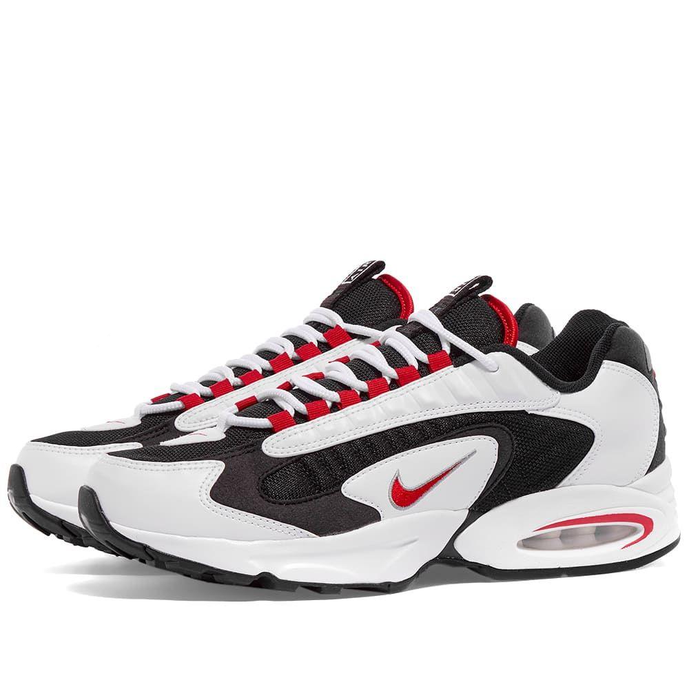 ナイキ Nike メンズ スニーカー シューズ・靴【Air Max Triax 96】White/University Red