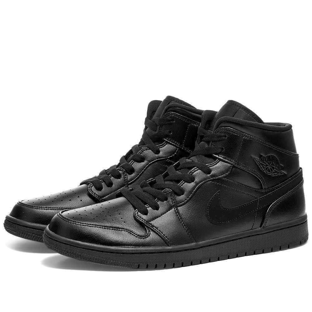 ナイキ ジョーダン Nike Jordan メンズ スニーカー シューズ・靴【Air Jordan 1 Mid】Black