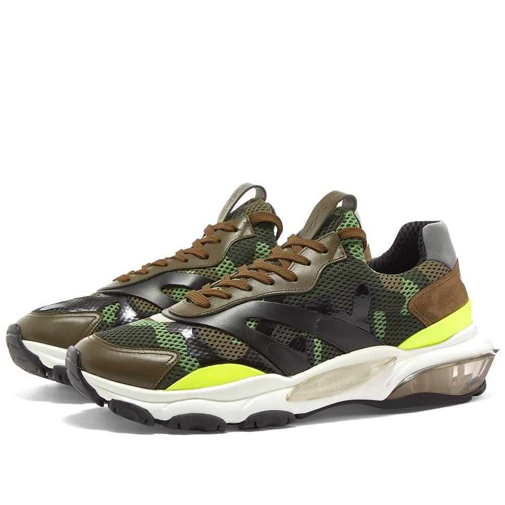 ヴァレンティノ Valentino メンズ スニーカー シューズ・靴【Bounce Mesh Camo Runner】Green/Army/White