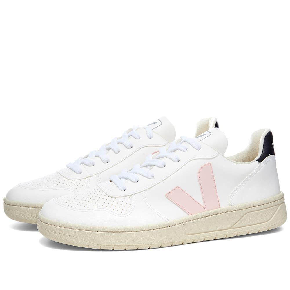 ヴェジャ Veja メンズ スニーカー シューズ・靴【V-10 Basketball Sneaker】White/Pink