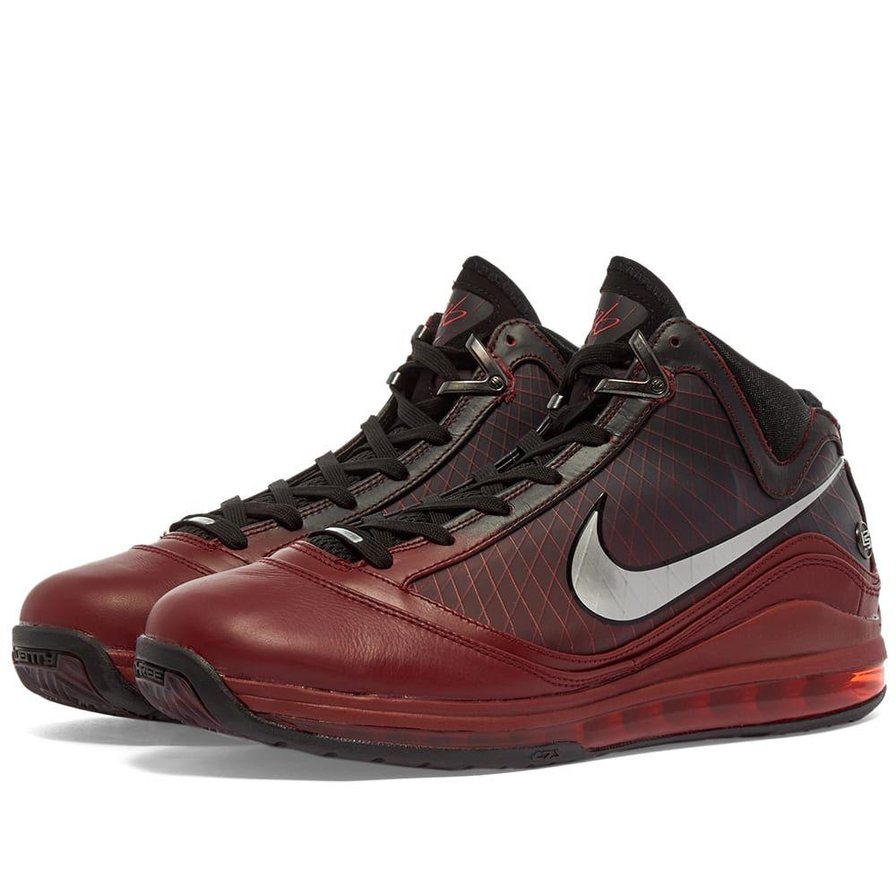 ナイキ Nike メンズ スニーカー シューズ・靴【LeBron VII】Team Red/Silver/Black