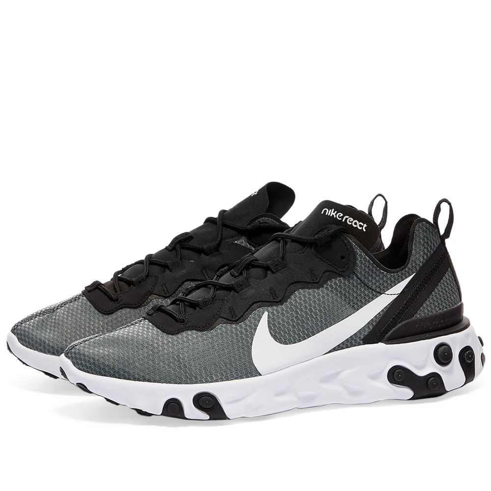 ナイキ Nike メンズ スニーカー シューズ・靴【React Element 55 SE】Black/White