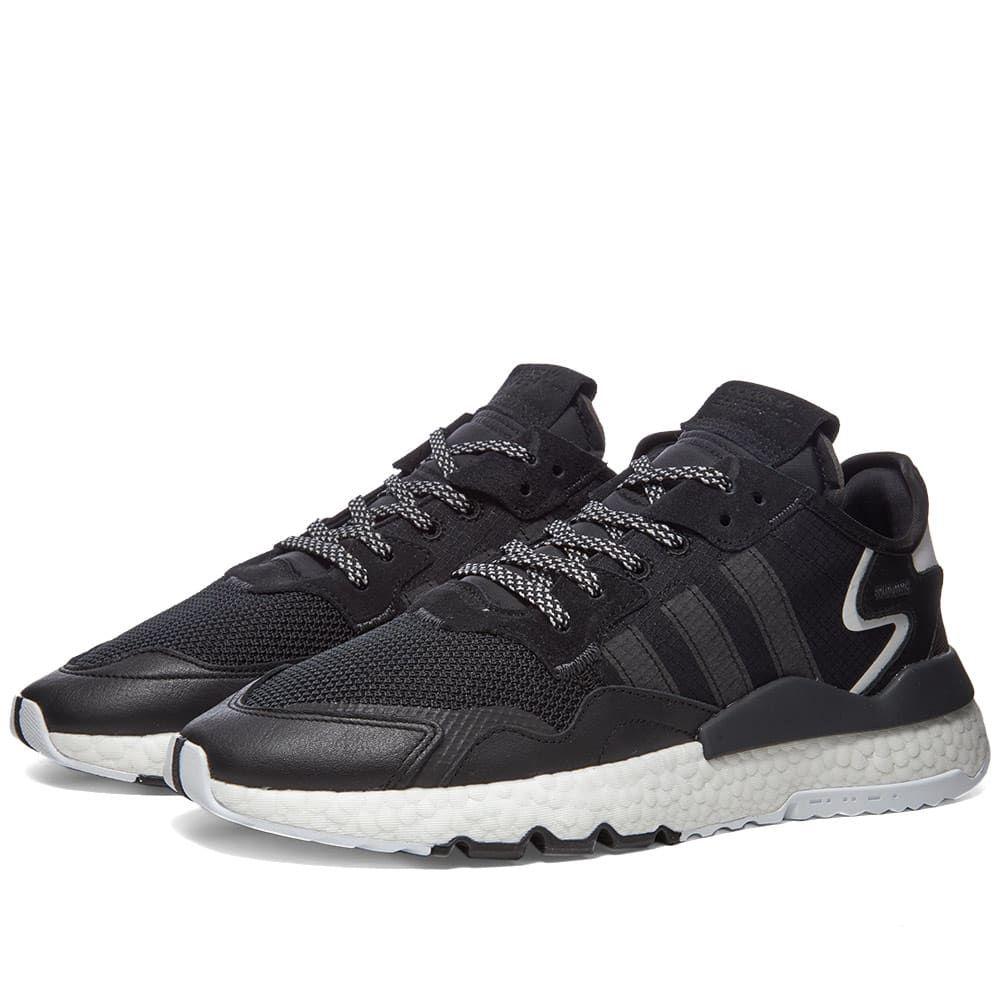 アディダス Adidas メンズ スニーカー シューズ・靴【Nite Jogger】Core Black/White