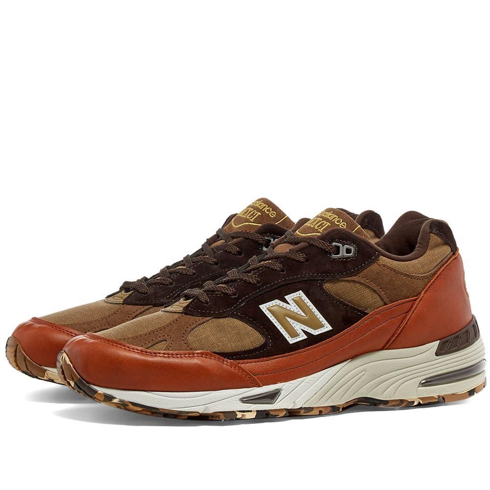ニューバランス New Balance メンズ スニーカー シューズ・靴【M991SOP - Made in England】Tan/Brown
