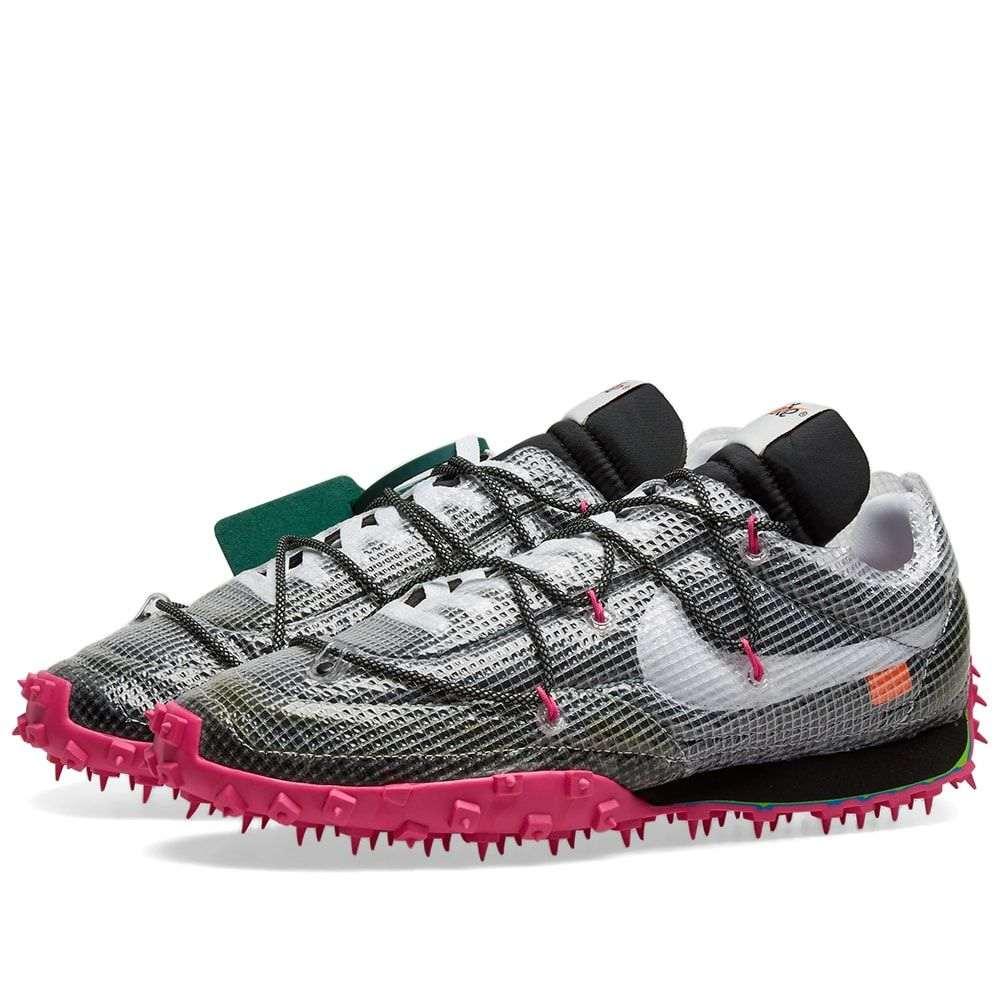 ナイキ Nike メンズ スニーカー シューズ・靴【x Off-White Waffle Racer】Black/White/Fuchsia